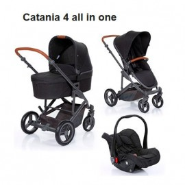 Carucior 3 in 1 Catania 4 All in One woven black Circle by ABC Design 2019