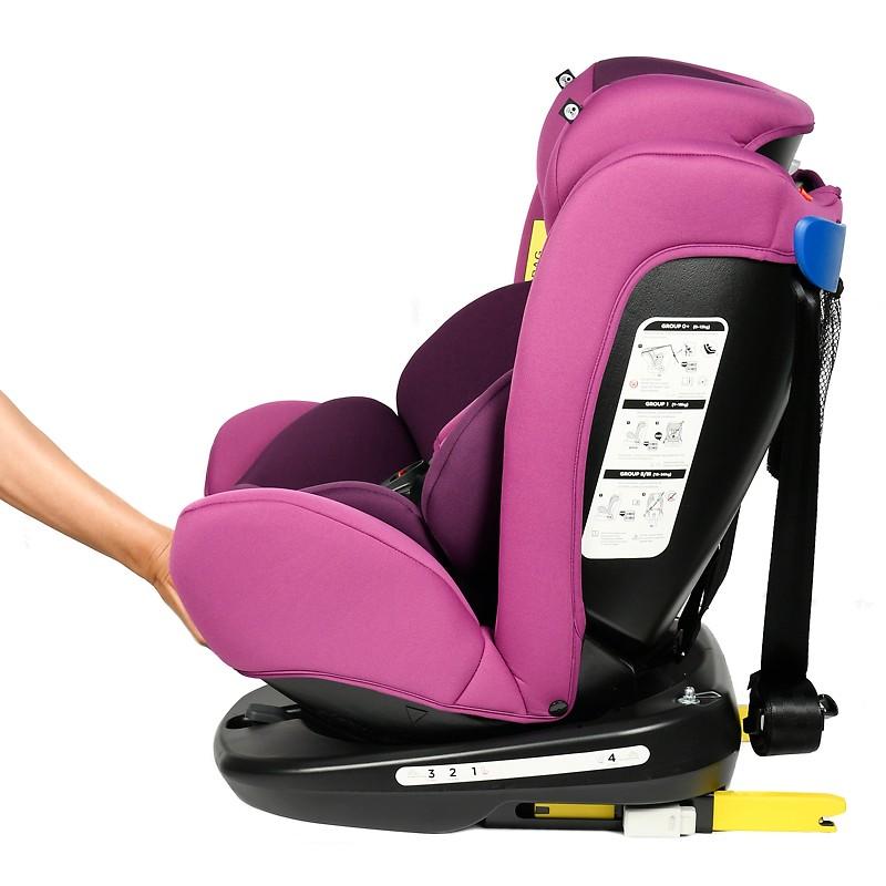 Scaun Auto Tweety Purple cu Isofix rotativ 360 grade BUF BOOF 0 36 kg baza neagra
