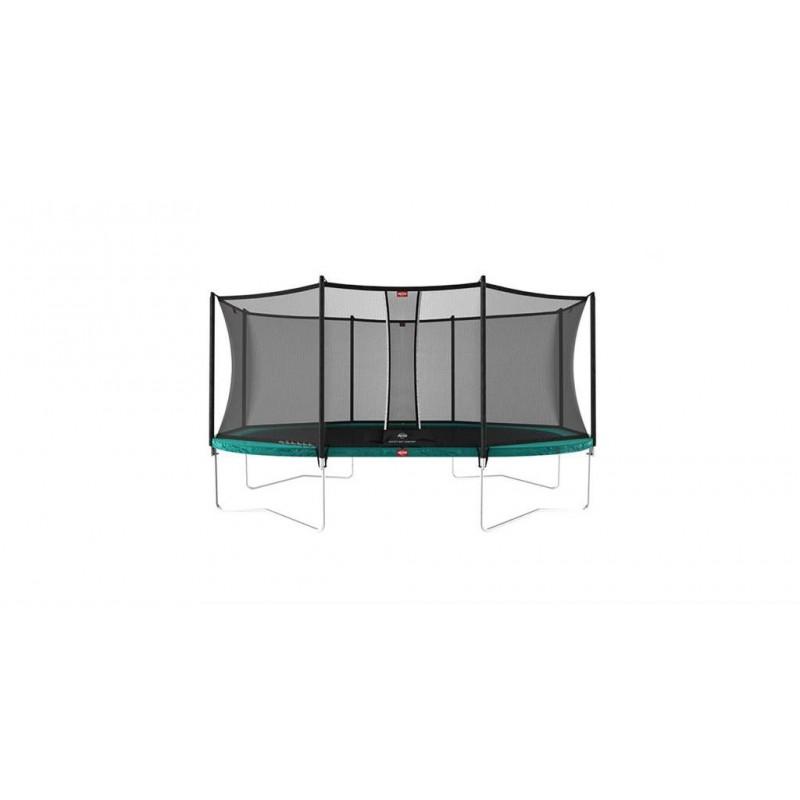 Trambulina Berg Grand Favorit Regular 520x345 Verde cu Plasa Comfort
