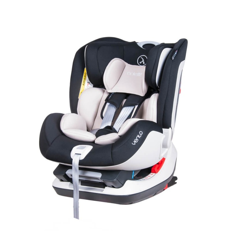 Scaun auto Vento cu isofix si top-tether 0 25 kg black Coletto