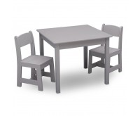 Set masuta si 2 scaunele Pure Grey Delta Children
