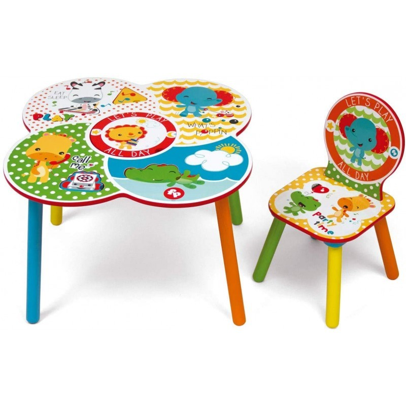 Set masuta multifunctionala si un scaunel It s Giggle Time Fisher Price