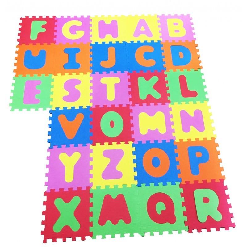 Covor puzzle din spuma Alphabet 26 piese Knorrtoys