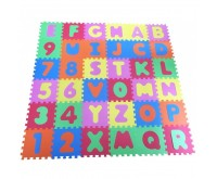 Covor puzzle din spuma Alphabet and Numbers 36 piese Knorrtoys