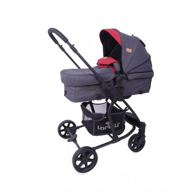 Carucior 2 in 1 transformabil Aster Black Red