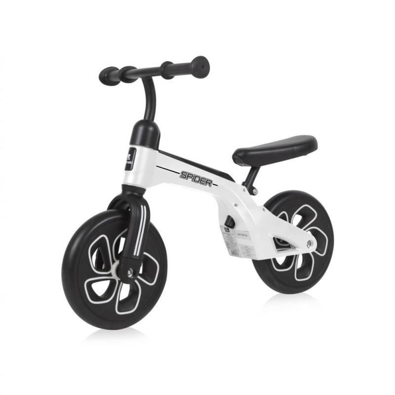 Bicicleta fara pedale Spider White