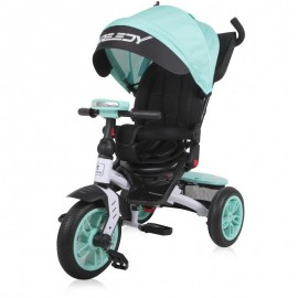 Tricicleta pentru copii Speedy multifunctionala 4in1 Green Black