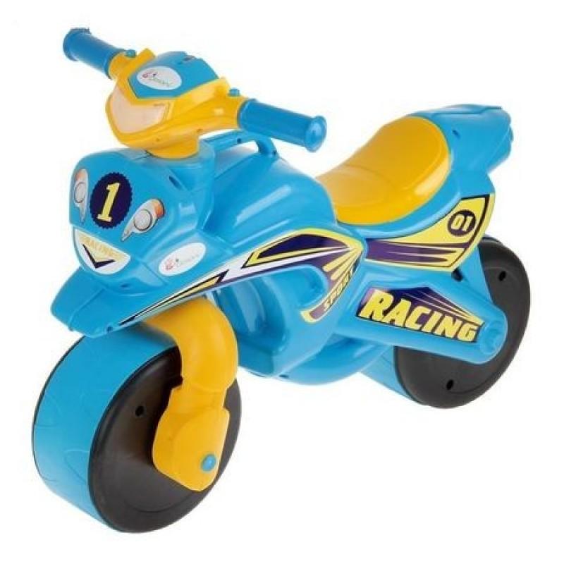 Motocicleta de impins Racing 0139/1 Albastru/Galben MyKids