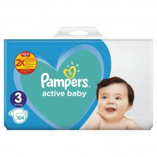 Scutece Pampers Active Baby Giant Pack Plus Marimea 3  6 10 kg 104 buc