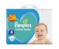 Scutece Pampers Active Baby Giant Pack Plus Marimea 4  9 14 kg 90 buc