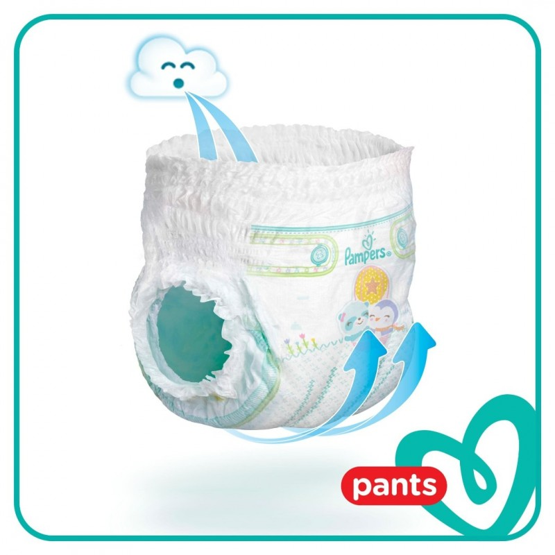 Scutece chilotel Pampers Pants Jumbo Pack Marimea 4  9 15 kg  52 buc