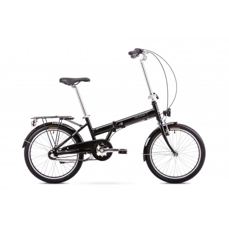 Bicicleta pliabila Unisex Romet Wigry 3 Negru Argintiu 2019