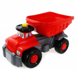 Camion basculant Carrier red Super Plastic Toys
