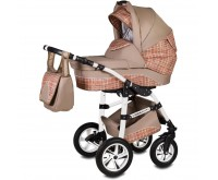 Carucior 3 in 1 Flamingo Easy Drive Vessanti Beige