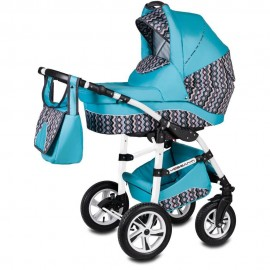 Carucior 3 in 1 Flamingo Easy Drive Vessanti Turquoise