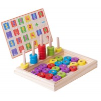 NUMARATOARE LEMN CU DISCURI COLORATE Wooden Toys