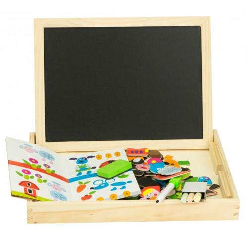 TABLITA MULTIFUNCTIONALA MAGNETICA 2 IN 1 PENTRU CRETA MAGNETI SI MARKER 30 CM Wooden Toys