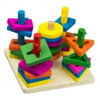 JOC DE SORTARE 4 FORME GEOMETRICE Wooden Toys