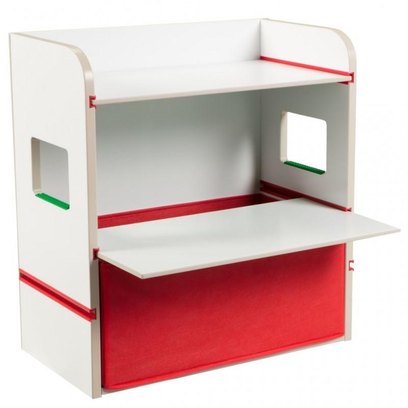 Suport depozitare cu display pentru constructii tip Lego Worlds Apart