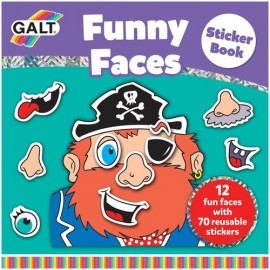 Carte cu abtibilduri Funny Faces Galt