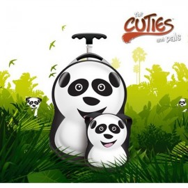 Ghiozdan si valiza tip trolley Cheri the Panda Cuties Pals