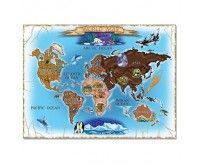 Melissa Doug Map of the World Cardboard Jigsaw	Puzzle harta lumii