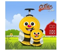 Ghiozdan si valiza tip trolley Cazbi the Bee Cuties Pals