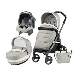 Carucior 3 In 1 Book Plus 51 S Black Completo Elite Peg Perego