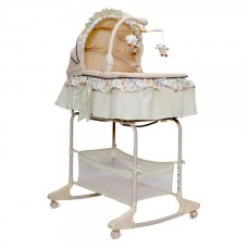Leagan cu landou 3 in 1 Moni Bassinet Nap Green