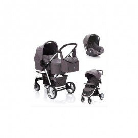 Carucior 3 in 1 Lion system grey melange Fillikid