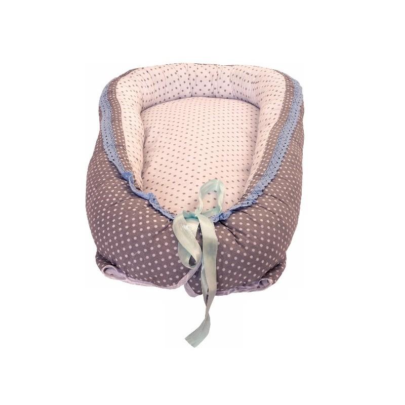 Baby Nest din Cocos MyKids Gray Blue Ice
