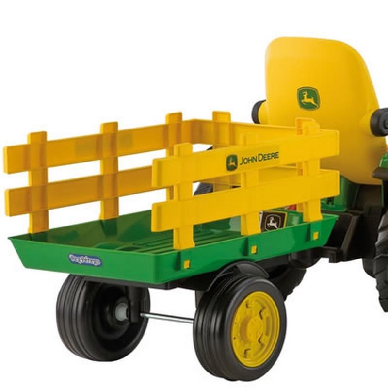 Tractoras JD Ground Force w trailer Peg Perego