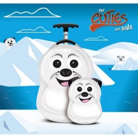 Ghiozdan si valiza tip trolley Cubbi the Seal Cuties Pals