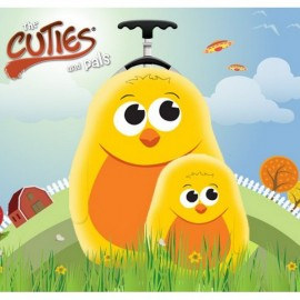 Ghiozdan si valiza tip trolley Chico the Chick Cuties Pals