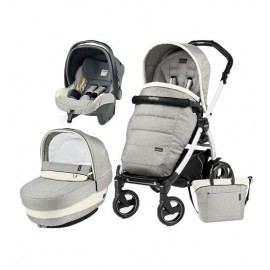 Carucior 3 In 1 Book Plus 51 S Black White Completo Elite Peg Perego