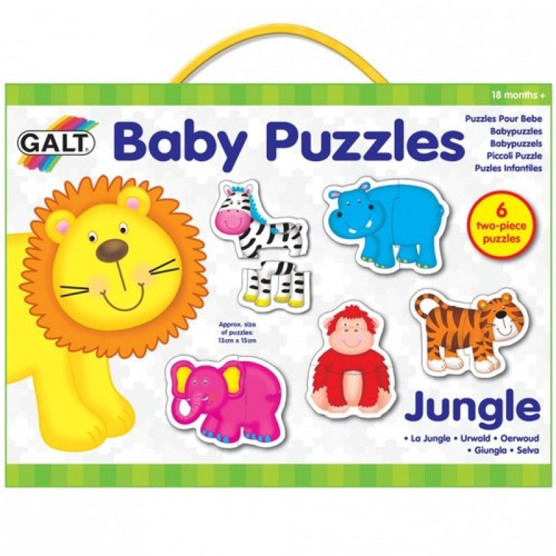 Baby Puzzle Animale din jungla 2 piese Galt